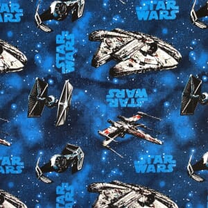 Star Wars Ships Blue Quilting Fabric