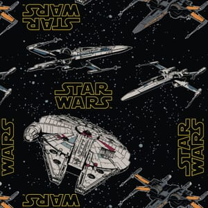 Visage Star Wars Rebel Ships Fabric