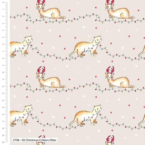Debbie Shore Fabric Christmas Critters Otter