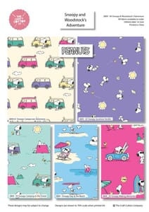 Snoopy And Woodstocks Adventure Fat Quarter Pack
