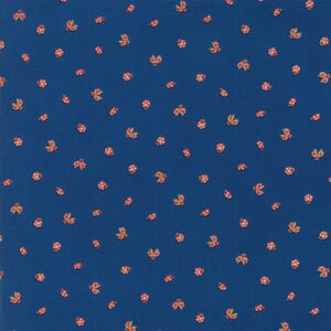 Small Image of Moda Fabric Lucky Day Lady Bugs Dusk Blue