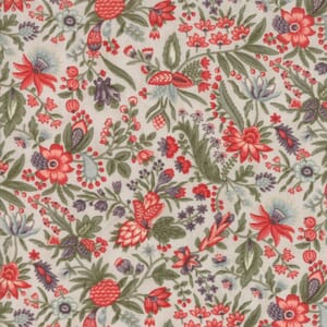 Moda Fabric Quill Floral Flourish Parchment