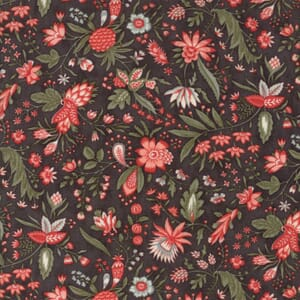 Moda Fabric Quill Floral Flourish Charcoal