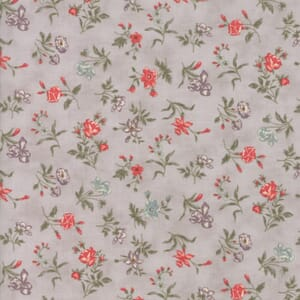 Small Image of Moda Fabric Quill Blossoms Feather Grey