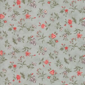 Small Image of Moda Fabric Quill Blossoms Aqua