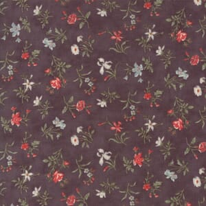 Small Image of Moda Fabric Quill Blossoms Dark Mauve