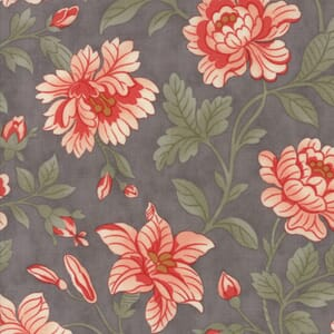 Moda Fabric Quill Damask Feather Grey