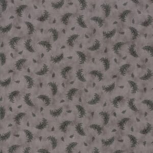 Moda Fabric Quill Plumes Feather Grey