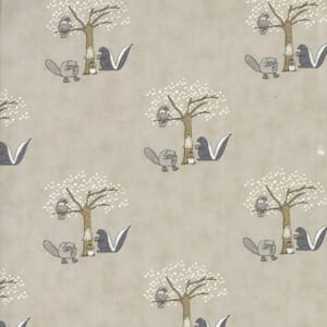 Small Image of Moda Fabric Hushabye Hollow Skunk Moonbeam