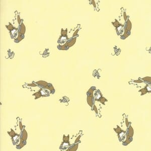 Small Image of Moda Fabric Hushabye Hollow Fox Lute Twinkle