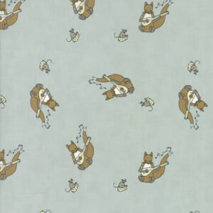 Small Image of Moda Fabric Hushabye Hollow Fox Lute Breeze