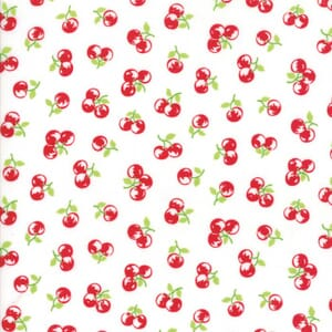 Small Image of Moda Fabric The Good Life Orchard Cream Red