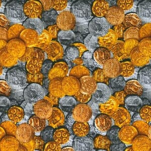 Small Image of Pirates Treasures Fabric Pieces of Eight Buried Treasure