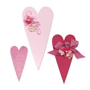 Small Image of Sizzix Bigz Die - Hearts, Primitive