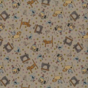 Lynette Anderson One Stitch At A Time Sewing Cats and Dogs Light Brown