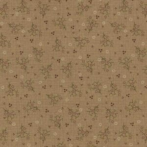 Lynette Anderson One Stitch At A Time Floral Sprigs Light Brown