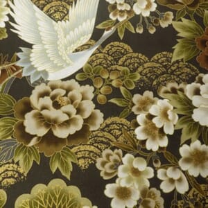 Large Image of Nutex Japanese Floral Metallic Fabric