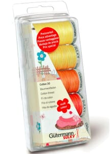 Small Image of Gutermann Thread Set: Cotton 30: 5 x 300m: Yellows/Reds