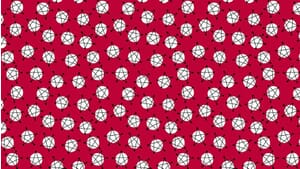 Small Image of Makower Fabric And Z Stars Red