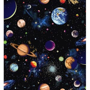 Small Image of Nutex Solar System Planets Black Fabric