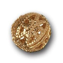 8mm Filigree Bead Gold Plated
