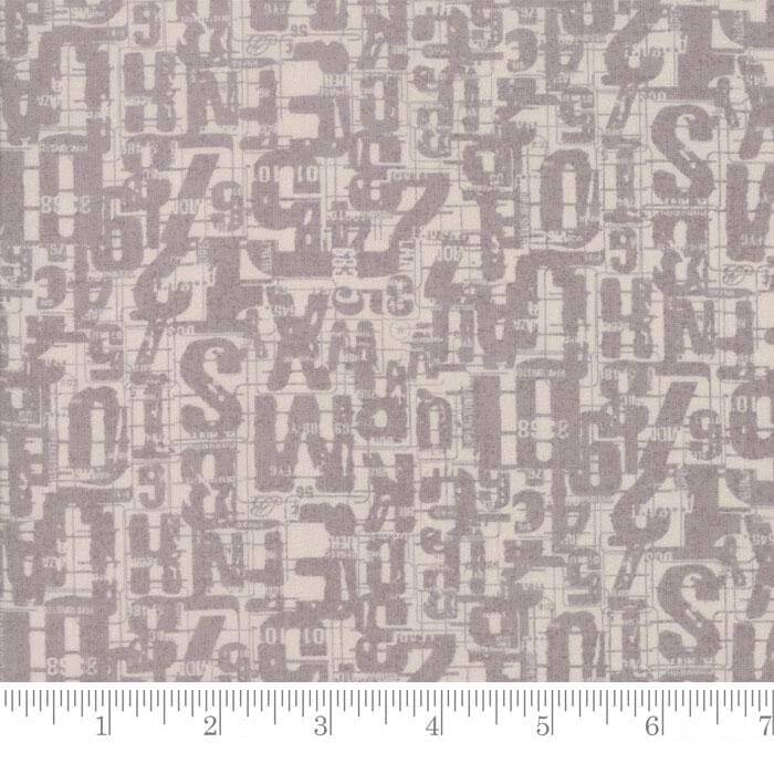 Moda Fabric Compositions Number Jumble Taupe