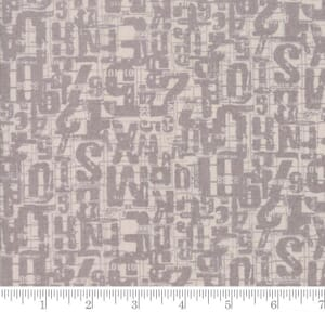 Small Image of Moda Fabrics Compositions Number Jumble Taupe