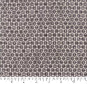 Small Image of Moda Fabrics Compositions Type Keys Taupe