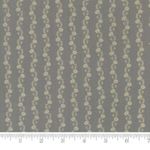 Small Image of Moda Fabrics Reflections Floral Stripe Aqua Green