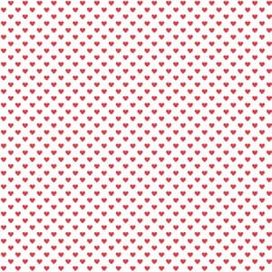 Makower Fabric Hearts Red on white 9149R1