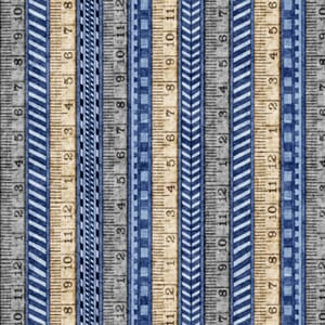 Stof A Little Handy Fabric Tape Measures Blue