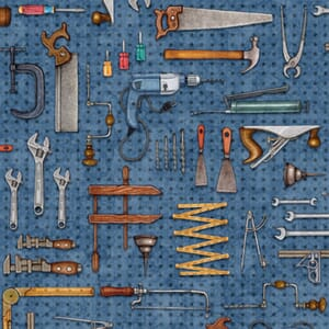 Stof A Little Handy Fabric Tool Pegboard Blue