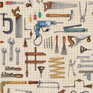 Stof A Little Handy Fabric Tool Pegboard Natural