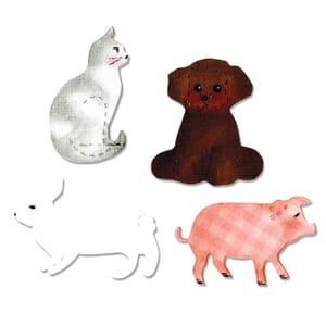 Sizzix Bigz Die Cat, Dog, Pig & Rabbit