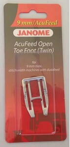 Janome Acufeed Open Toe Foot (Twin) - Category D (with AcuFeed)