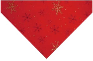 Small Image of Glitter Snowflake Felt Red With Red And Gold 23cm x 30cm