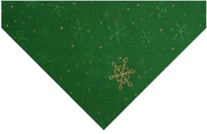 Small Image of Glitter Snowflake Felt Green With Gold and Green 23cm x 30cm