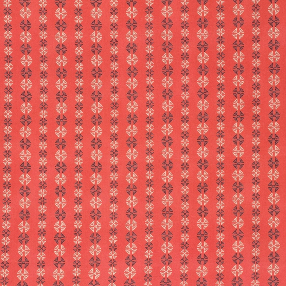 Amy Butler Bright Heart Grounded Coral Stitchy Dots Cotton Fabric