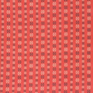 Small Image of Amy Butler Bright Heart Grounded Coral Stitchy Dots Cotton Fabric