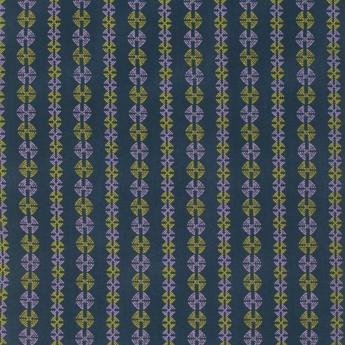 Amy Butler Bright Heart Inspired Navy Stitchy Dots Cotton Fabric