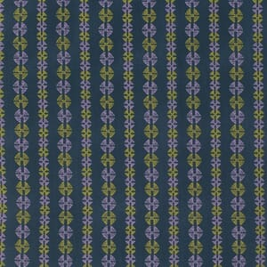 Small Image of Amy Butler Bright Heart Inspired Navy Stitchy Dots Cotton Fabric