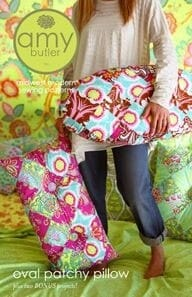 Amy Butler Sewing Pattern Oval Patchy Pillow