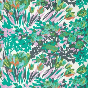 Amy Butler Violette Flourish Turquoise Meadow Blooms Cotton Fabric