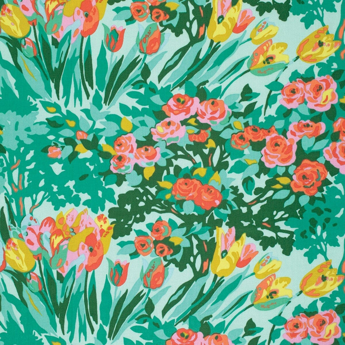Amy Butler Violette Treasure Minty Meadow Blooms Cotton Fabric