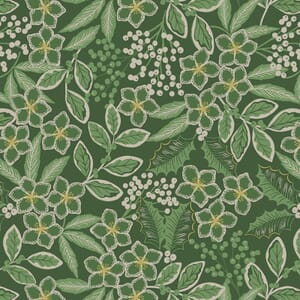 Lewis and Irene Noel Floral Green With Gold Metallic C66.2