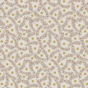 Lewis and Irene Noel Metallic Gold Star and Berries Natural C67.1