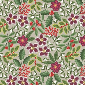 Lewis and Irene Noel Christmas Floral Natural C68.1
