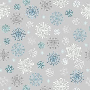 Lewis and Irene Hygge Glow in The Dark Snowflakes Silver C72.1
