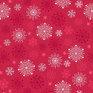 Lewis and Irene Hygge Glow in The Dark  Snowflakes Red C72.3