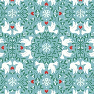 Lewis and Irene Hygge Glow in The Dark Scandi Dove Icy Blue C74.2